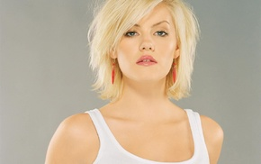 блондинка, девушка, Элиша Катберт, голубые глаза, снежные вершины