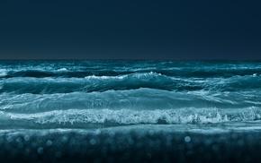 waves, nature, bokeh