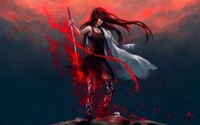 warrior, NanFe, fantasy art, anime, artwork, original characters