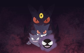 Gastly, Gengar, Pokemon, Haunter