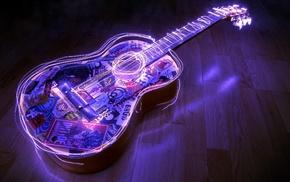 music, long exposure, guitar