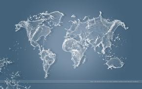 world map, globes, water