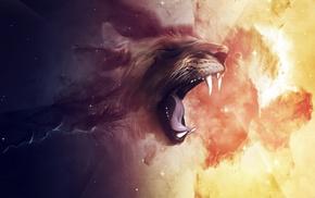 lion, digital art