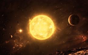 вселенная, космический арт, солнце