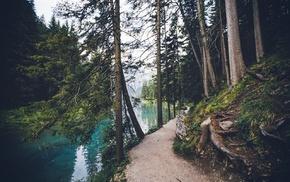лодка, Канада, природа, горы, пейзаж