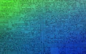 technology, microchip, schematic, CPU, blueprints