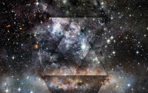космос, туманность, звезды, абстрактные