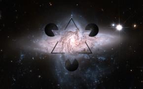 космос, абстрактные, треугольник