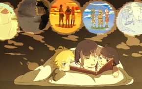 Uzumaki Boruto, Uzumaki Himawari, Uzumaki Naruto, Hyuuga Hinata