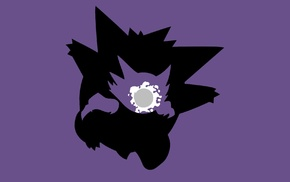 minimalism, evolution, simple background, Ghastly, Gengar, Haunter