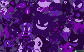Haunter, Gengar, Ghastly, ghosts, Pokemon