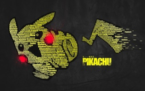typographic portraits, Pikachu, word clouds, Pokemon