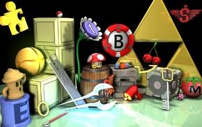 Tetris, Pokemon, Portal, Sonic, Super Smash Brothers, Nintendo