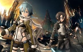 Asada Shino, Kirigaya Kazuto, Sword Art Online, Gun Gale Online