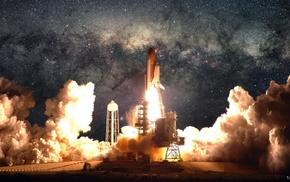 space shuttle, Space Shuttle Atlantis, spaceship