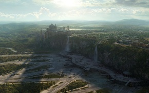 Star Wars, waterfall, space, Naboo