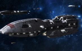 space, Battlestar Galactica, Battlestar Pegasus
