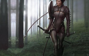 katana, fantasy art