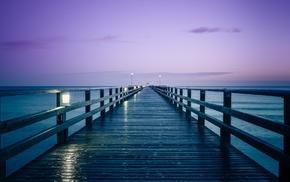 pier, sea, dock