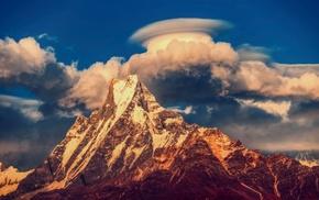 Machhapuchhre, mountain, Himalayas, Nepal