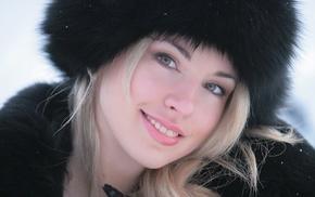 блондинка, девушка, зеленые глаза