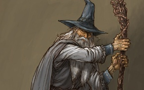 The Lord of the Rings, artwork, Gandalf, wizard