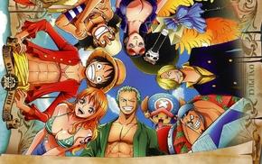 Nico Robin, Franky, Straw Hat Pirates, Roronoa Zoro, One Piece, Sanji