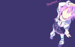 anime, anime girls, Hyperdimension Neptunia, Neptune Hyperdimension Neptunia, minimalism
