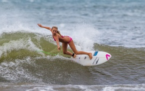 sports, girl, surfing