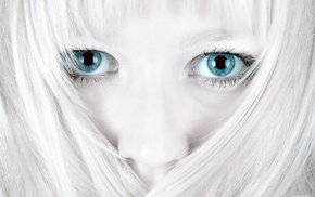 девушка, блондинка, глаза