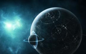 планета, цифровое искусство, космический арт