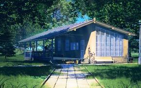 cottage, Everlasting Summer, sunlight, path, ArseniXC