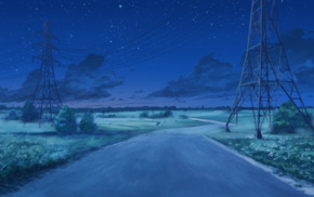Everlasting Summer, облака, звездная ночь