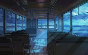 town, ArseniXC, Everlasting Summer, train, clouds, visual novel
