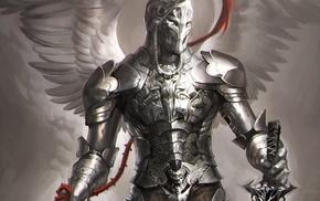 fantasy art, robot, Polish hussar