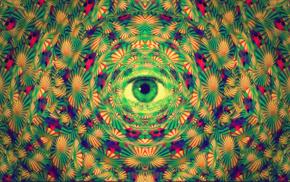eyes, abstract, Aysamo, psychedelic