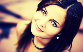 blue eyes, girl, face
