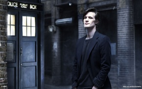 TARDIS, Doctor Who, men, Matt Smith, The Doctor, Eleventh Doctor