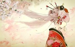 кимоно, Японское, Вокалоид, девушки из аниме