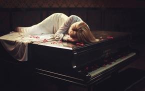 piano, girl