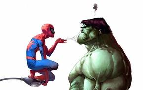 Spider, Man, Hulk