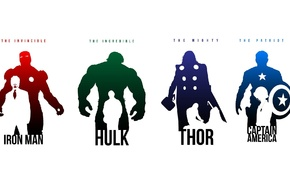 Капитан Америка, Тор, железный человек, Мстители, Халк