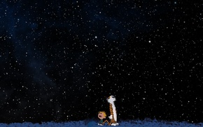 Calvin and Hobbes, stars, space
