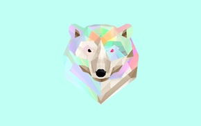 digital art, Facets, polar bears, Justin Maller, animals