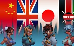 флаг, игры, Street Fighter