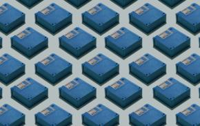 floppy disk, blue