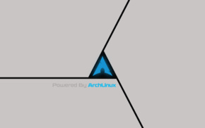 Arch Linux, gray, triangle