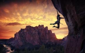 sports, climbing, landscape