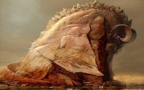 Daniel Dociu, concept art, Guild Wars 2, sea, ports