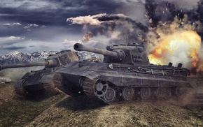 video games, wargaming, World of Tanks, Tiger II, E, 75